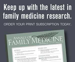 Order your print subscription of Annals