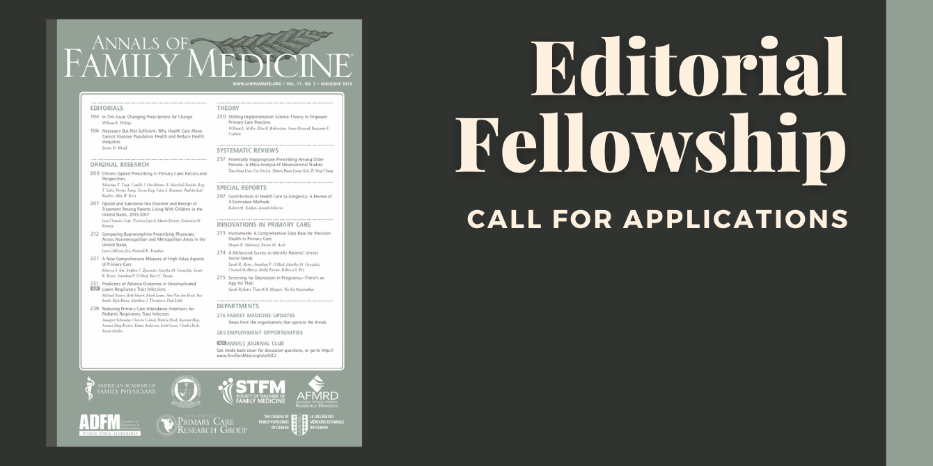 Annals of Family Medicine Editorial Fellowship Call for Applications