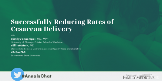 Successfully reducing rates of cssarean delivery #AnnalsChat Annals of Family Medicine on twitter